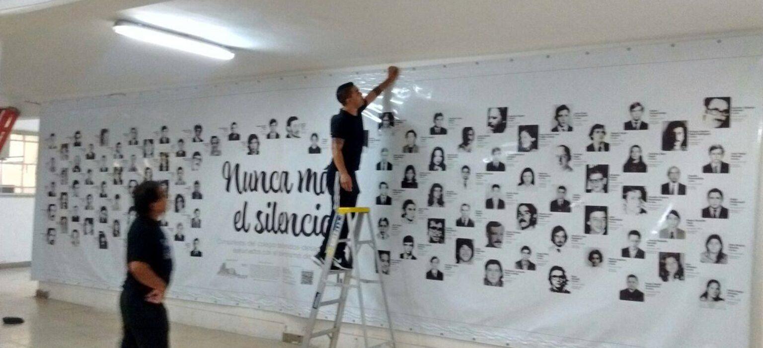 Mural en homenaje a los desaparecidos del CNBA