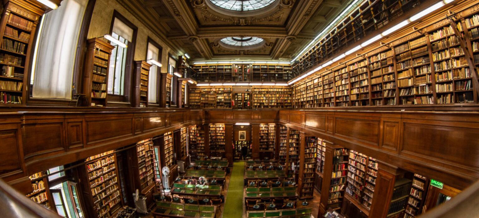 Recambio de luminarias de la Biblioteca