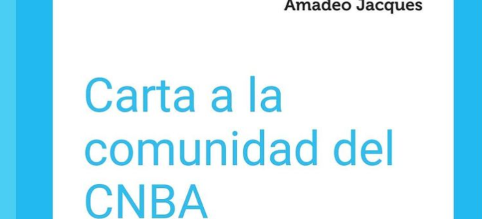 Carta a la comunidad del CNBA