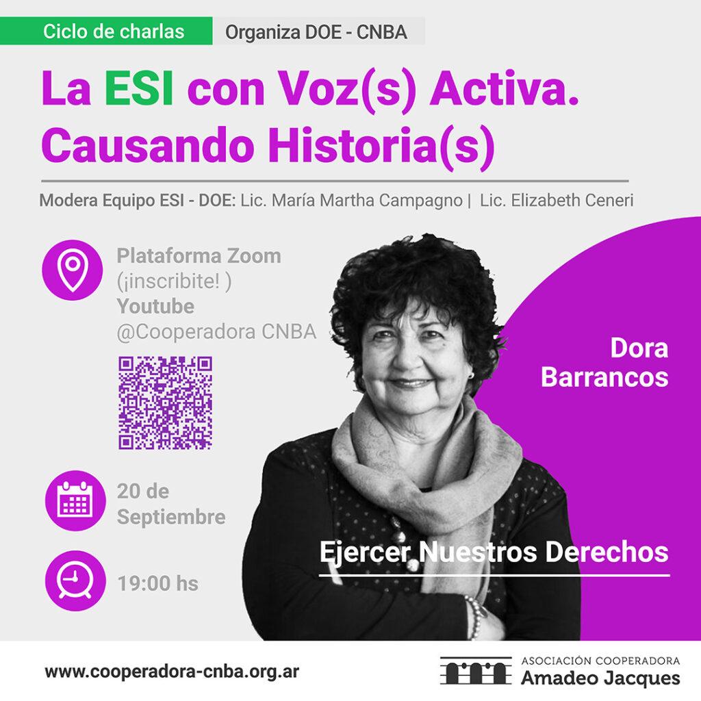 La ESI con voz activa - Dora Barrancos